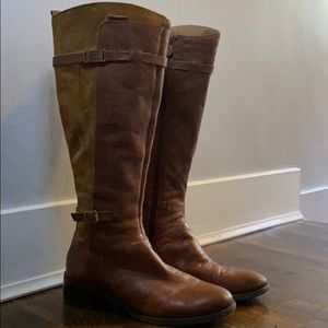 Suede/Leather Riding Boots